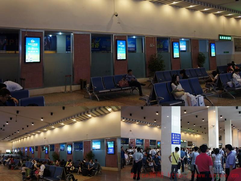 广告机工程案例――车站、机场、加油站广告机用途、落地广告机,壁挂楼宇广告机